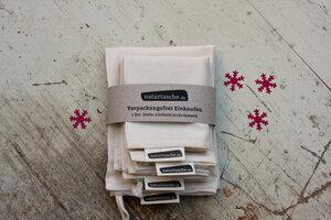 Naturtasche aus Bio-Baumwolle 5er-Set - Naturtasche