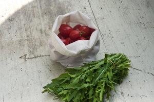 Naturtasche als Obst- & Gemüsebeutel (18x18cm) - Naturtasche
