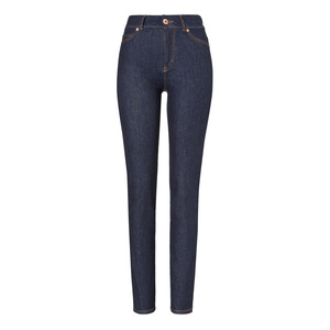 Womens High Rise Slim Jeans Raw One Wash - goodsociety