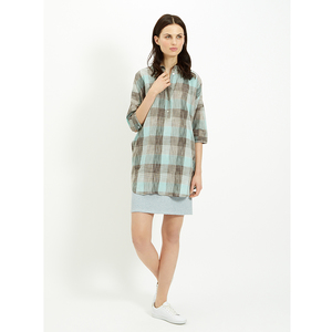 IKAT COCOON TUNIC BLUE - Peopletree