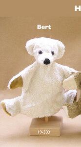 Handpuppe Bär Bert weiß - Kallisto