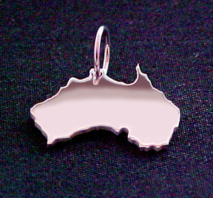 AUSTRALIEN mit Brillant ( Kettenanhänger ) - S.W.w. Schmuckwaren