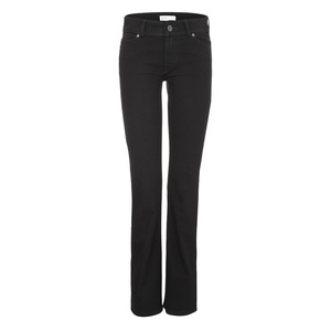 Womens Bootcut Jeans Black One Wash - goodsociety