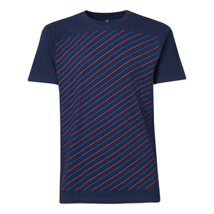 ThokkThokk Thin Striped T-Shirt red & blue/midnight melange - ThokkThokk