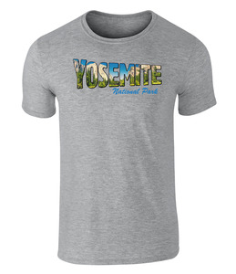 Yosemite National Park USA, Vintage-Style T-Shirt, S - XXL - California Black Plate