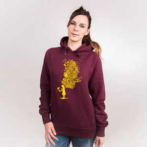 Embrace the World With Ideas - Frauenhoodie aus Bio-Baumwolle - Coromandel