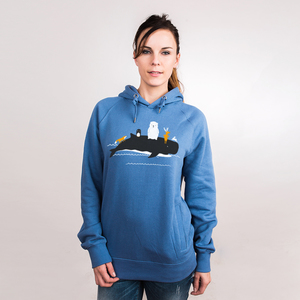 Looking For a New Home - Frauenhoodie aus Bio-Baumwolle - Coromandel