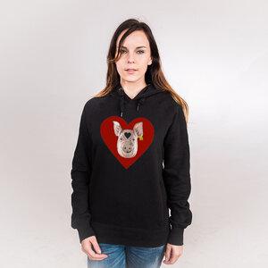 Piggy Love - Frauenhoodie aus Bio-Baumwolle - Coromandel
