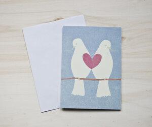 Öko-Grußkarte 'Lovebirds' - MOZAÏQ eco design