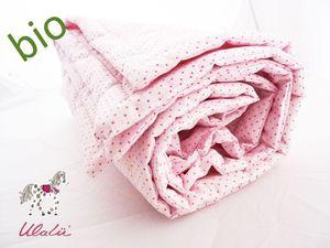 Kinder Steppdecke rosa gepunktet - Ulalü
