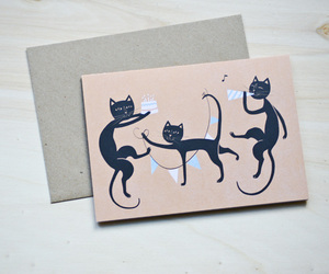 "Öko-Grußkarte ""Birthday Cats"" - MOZAÏQ eco design"