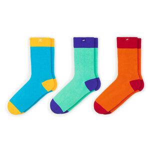 3 Paar bunte color block Socken in einer MINGA BERLIN Geschenkbox - MINGA BERLIN