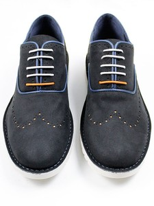 URBAN BROGUES DARK BLUE - WILLS LONDON