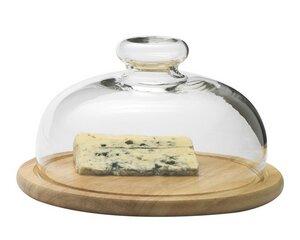 Käseglocke mit Holzteller, Ø 21cm - Trendglas Jena