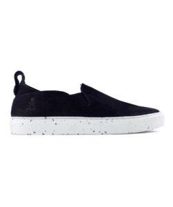kudzu - schwarzes nubuk - weisse sohle - ekn footwear