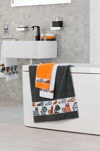 Handtuch Kollektion von Feiler traumhaft -witzige Bodüre'Mieze' 50 x 100 cm - Feiler Germany