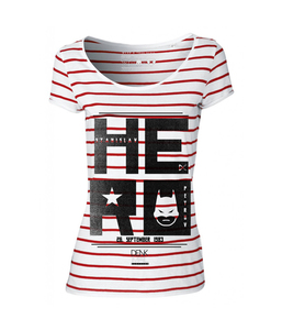 "Hero Stripes ""white/red""  - DENK.MAL Clothing"