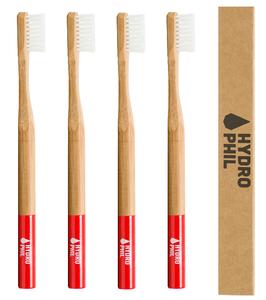 DOPPELT Bambus Zahnbürste Pack rot - HYDROPHIL