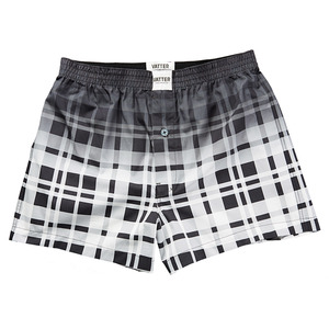 "Boxer Short ""Loose Larry"" Schwarz/Weiß Faded - VATTER"