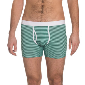 Boxer Brief 'Classy Claus' Mint/Green Stripes - VATTER