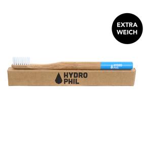 Bambus Zahnbürste blau extra weich - HYDROPHIL
