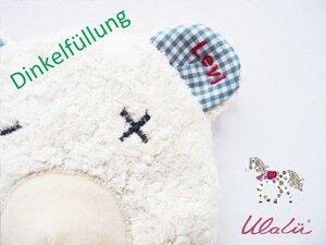 Baby Dinkelkissen mit persönlicher Namensstickerei - Ulalü
