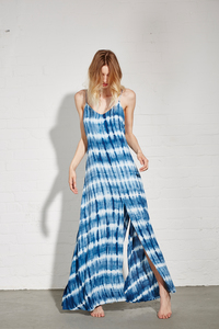 SLIP DRESS UMA INDIGO TIE-DYE - Hati-Hati