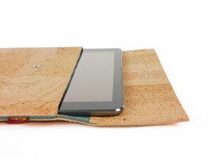 Tablet / Notebook / Laptop Tasche aus Korkleder - beige - viele Größen - Simaru