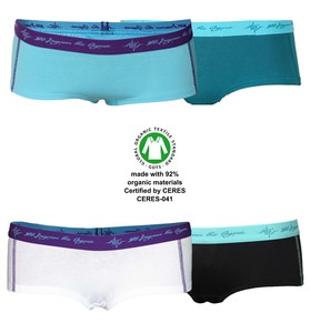 8er Mix Damen Hot Pants GOTS petrol / schwarz mint / aqua / white - 108 Degrees