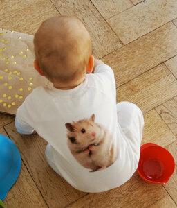 Hamster Strampler für Babies - lovely lion