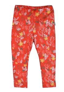 Mädchen Leggings orange mit Muster Bio Baumwolle - iobioTM (PoPoLiNi®)