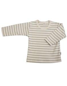 Baby u. Kinder LA Shirt natur/sand geringelt Bio Baumwolle - iobio