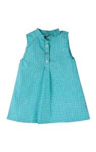 Baby Kleid grün kariert Bio-Baumwolle - iobioTM (PoPoLiNi®)