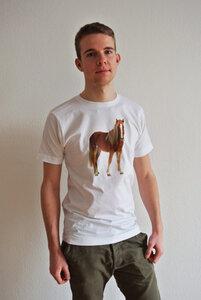 Pferde T-Shirt für Herren - lovely lion