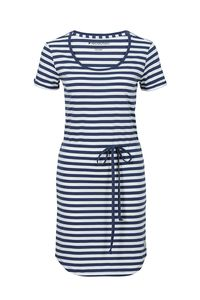 Fair trade Kleid W SHIRTDRESS #STREIFEN weiß/navy - recolution