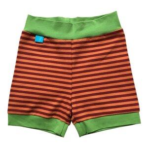 leichte Baby Jersey-Shorts orange/rost geringelt - bingabonga