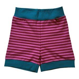 leichte Baby Jersey-Shorts lila geringelt - bingabonga