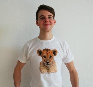 Löwen T-Shirt für Herren - lovely lion