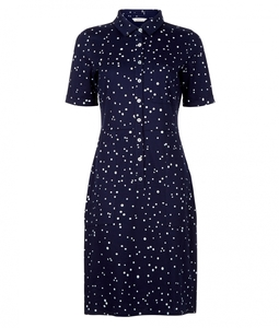 Alexis Shirt Dress Navy - People Tree