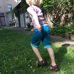 leichte Jersey-Shorts petrol - bingabonga