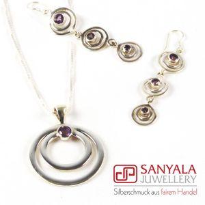 Silber-Schmuckset CIRCLE Fairtrade - SANYALA