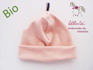 Mädchen-Mütze aus Biobaumwolle altrosa - Ulalü