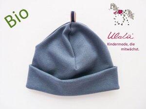 Jungen-Mütze aus Biobaumwolle blau - Ulalü