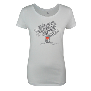 FAIRLIEBT Herzbaum Girlie T-Shirt, weiß - Fairliebt.