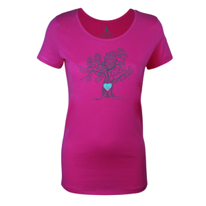 FAIRLIEBT Herzbaum Girlie T-Shirt, pink - Fairliebt.