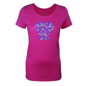 FAIRLIEBT Blätterherz Girlie T-Shirt, pink - Fairliebt.