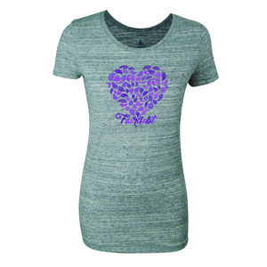 FAIRLIEBT Blätterherz Girlie T-Shirt, grau - Fairliebt.