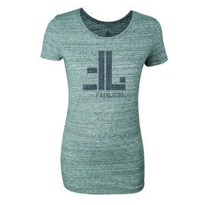 FAIRLIEBT Logo Girlie T-Shirt, grau - Fairliebt.