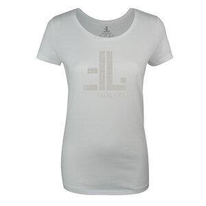 FAIRLIEBT Logo Girlie T-Shirt, weiß - Fairliebt.