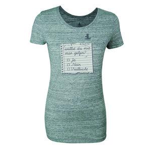 FAIRLIEBT 'Willst Du mit mir gehen' Girlie T-Shirt, grau - Fairliebt.